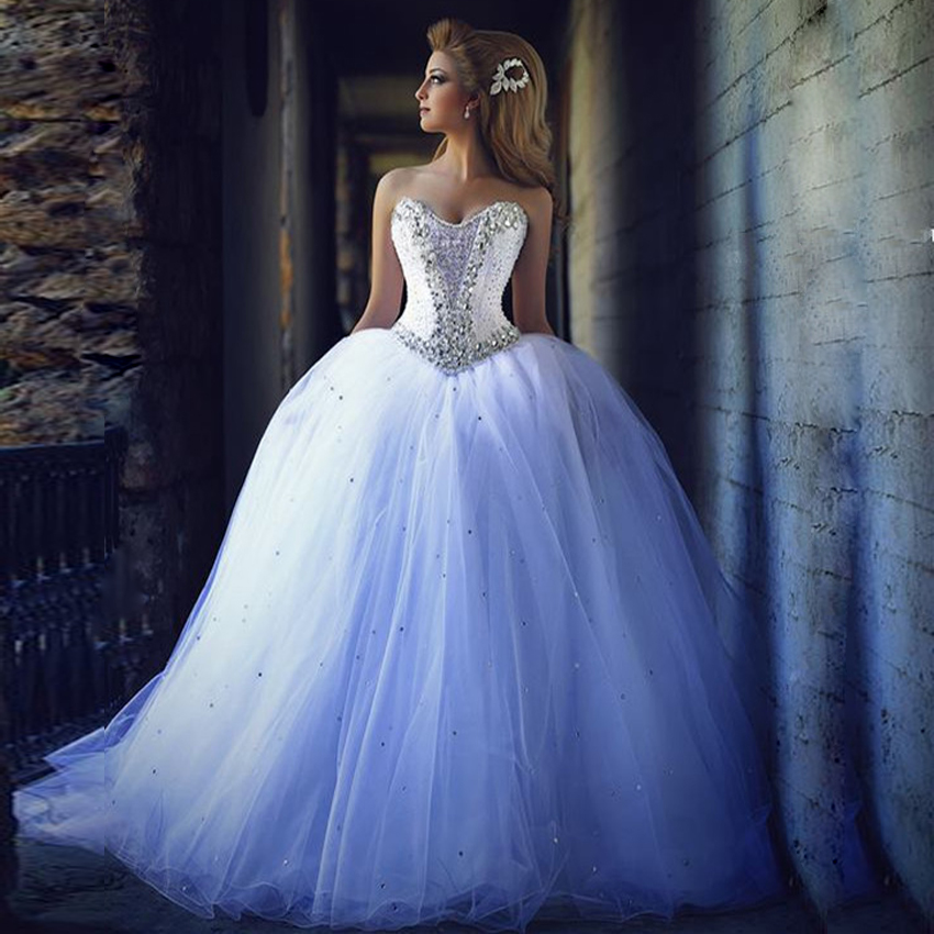 Ball Gown Wedding Dress Tulle Puffy DressWhite DressLong Bridal GownWedding DressBall Bride DressesBride Dresses